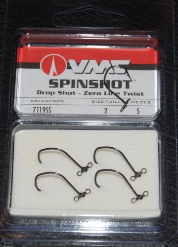 VMC Spinshot Drop Shot Hook, VMC Size 2, VMC hooks, VMC Spinshot ...