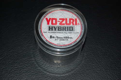 Yo zuri hybrid 8 lb test 600 yard smoke purple for Yo zuri fishing line