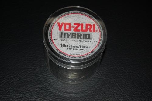 Yo zuri hybrid 10 lb test 600 yard smoke purple for Yo zuri fishing line