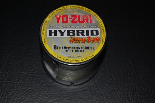 Yo zuri hybrid ultra soft 8 lb test 600 yard mist green for Yo zuri fishing line