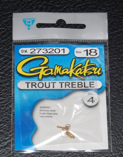 gamakatsu 273 gold trout treble hooks size 18 jagged tooth tackle, Fly Fishing Bait