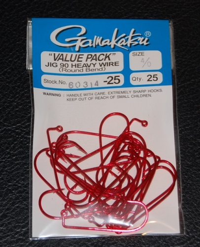 Gamakatsu 604 4//0   25 in a Pack