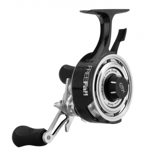 13 fishing black betty freefall left hand ice reel jagged for 13 fishing ice reel