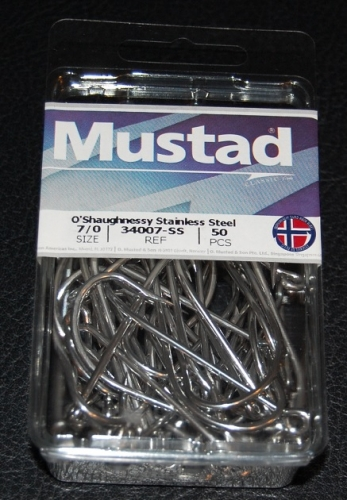 34007 >> Mustad 34007 Ss Stainless Steel O Shaughnessy Hooks Size 7 0 Jagged Tooth Tackle