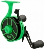 13 Fishing - Black Betty FreeFall Radioactive Pickle - Left Hand Ice Reel 2019