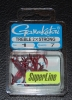 Gamakatsu 2x Strong Round Bend Red Treble Hooks - Size 1