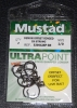 Mustad R39942NP-BN Ringed Demon 3X Perfect Offset Circle Hooks - Size 1/0