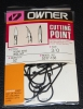 Owner 5317 60° Round Bend Wide Gap Jig Hooks - Size 3/0