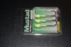 Mustad BUH120 Bullet Jig Head - 1/4 oz - 3/0 Hook - Glow Green UV