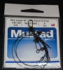Mustad Wire Leader Crane Swivel and Snap - 18cm 20lb Test