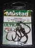 Mustad R10814NP-BN Ringed Hoodlum 5X Strong Live Bait Hooks - Size 5/0