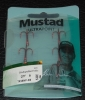Mustad TR58NP-RB Red KVD Elite Round Bend Treble - Size 8
